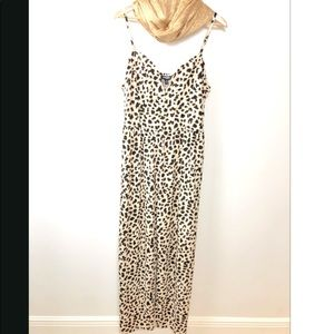 Express leopard maxi jumpsuit *NWT*
